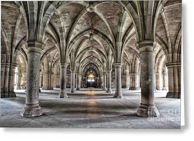 The Historic Cloisters Of Glasgow Greeting Card