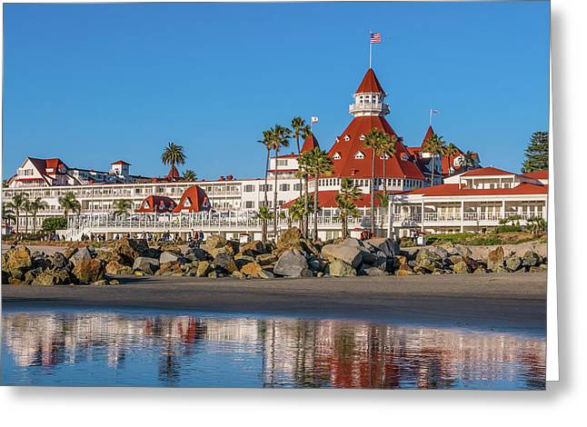 Greeting Card featuring the photograph The Hotel Del Coronado San Diego by Robert Bellomy