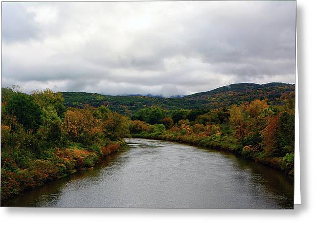 Greeting Card featuring the photograph The Housatonic River From A Bridge In Adams Ma by Raymond Salani III