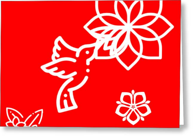 The Kissing Flower On Flower Greeting Card