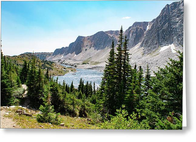 The Lakes Of Medicine Bow Peak Greeting Card