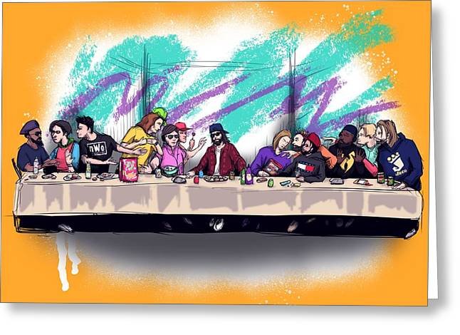 The Last 90s Supper Greeting Card
