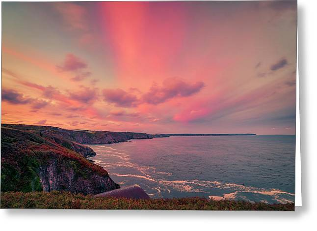 The Lizard Point Sunset Greeting Card