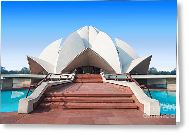 The Lotus Temple, Located In New Delhi Greeting Card