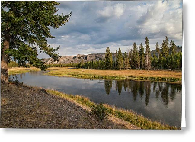 Greeting Card featuring the photograph The Madison River At West Yellowstone by Lon Dittrick