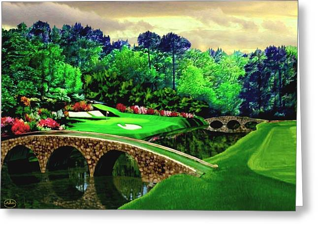 The Masters 12th Hole Greeting Card