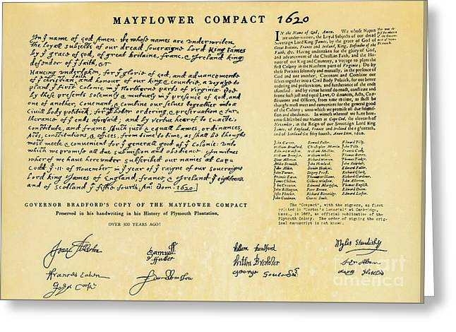The Mayflower Compact  Greeting Card