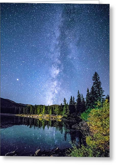 The Milky Way Over Echo Lake Greeting Card