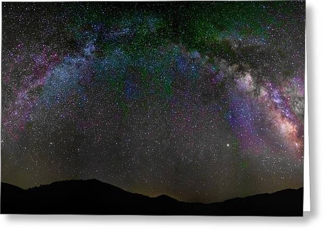 The Milky Way Over The Anza Borrego Desert Greeting Card