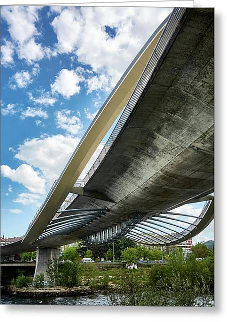 The Millennium Bridge From Below Greeting Card