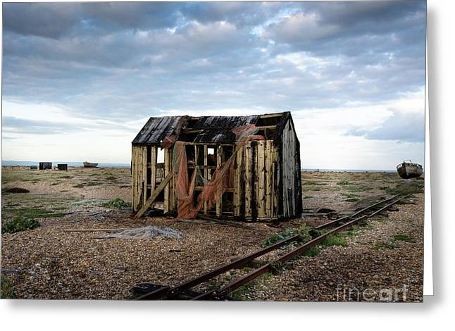 The Net Shack, Dungeness Beach Greeting Card