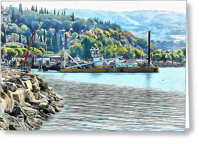 Greeting Card featuring the photograph The Old Dredger by Dorothy Berry-Lound