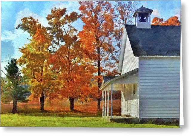 The Old Schoolhouse At Port Oneida Greeting Card