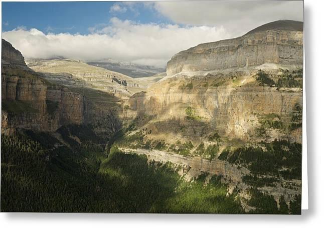 Greeting Card featuring the photograph The Ordesa Valley by Stephen Taylor