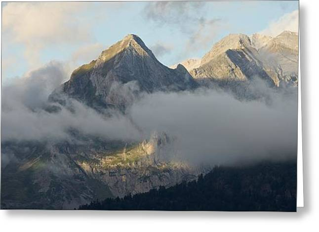 Greeting Card featuring the photograph The Ossau Valley  by Stephen Taylor