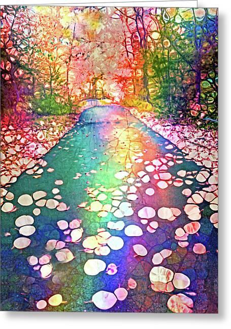 The Path Where Rainbows Meet Greeting Card