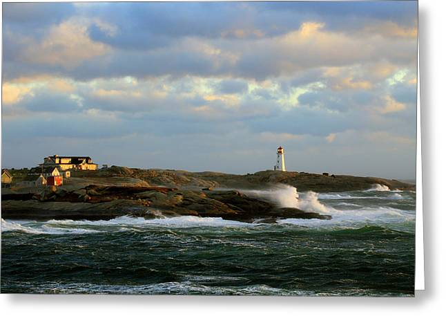 The Peggy's Cove Seascape Greeting Card