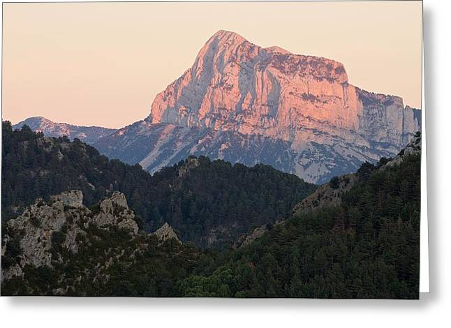 Greeting Card featuring the photograph The Pena Montanesa by Stephen Taylor