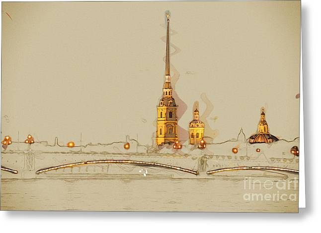 The Peter And Paul Fortress, Saint Greeting Card
