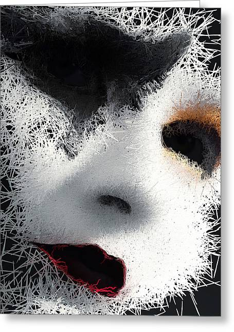 Greeting Card featuring the digital art The Phantom Of The Arts by ISAW Company