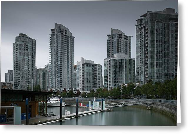 The Quayside Marina - Yaletown Apartments Vancouver Greeting Card