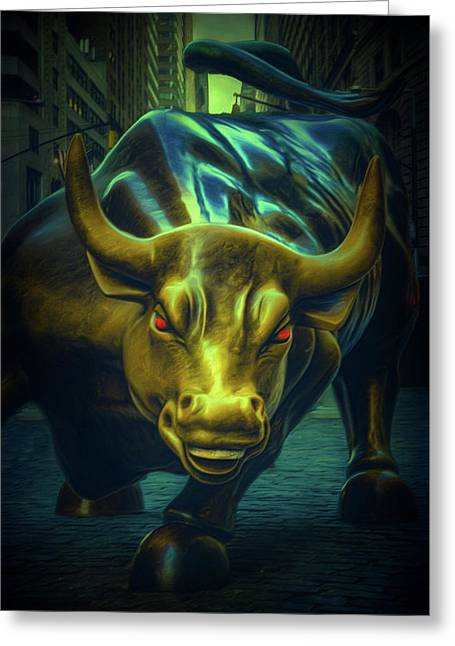 Greeting Card featuring the photograph The Raging Bull by Chris Lord