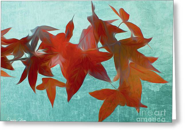 The Red Leaves Greeting Card