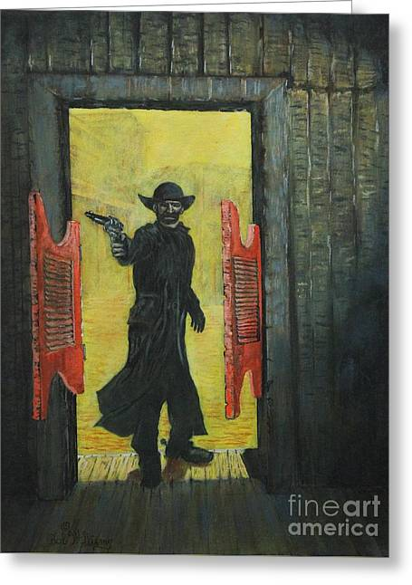 The Red Saloon Doors.....what Next Greeting Card