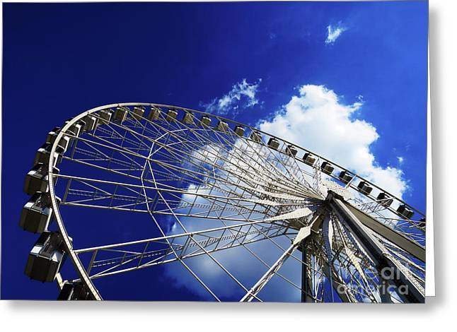 Greeting Card featuring the photograph The Ride To Acrophobia by Rick Locke