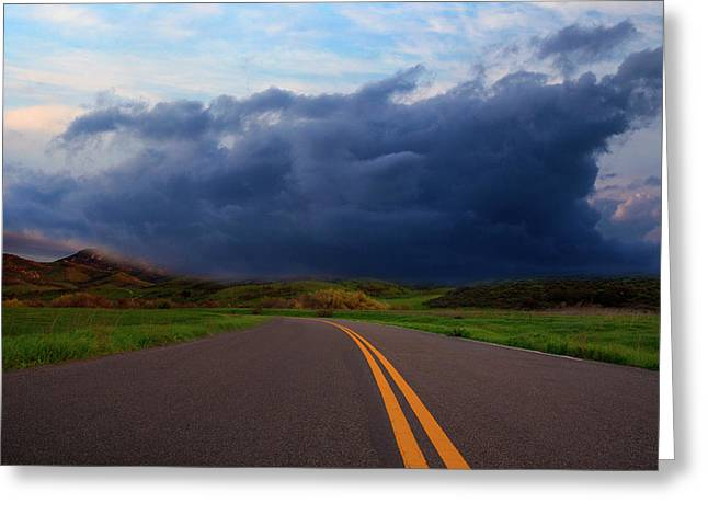 Greeting Card featuring the photograph The Road by John Rodrigues