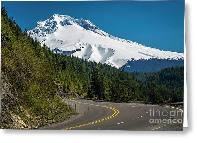 The Road To Mt. Hood Greeting Card