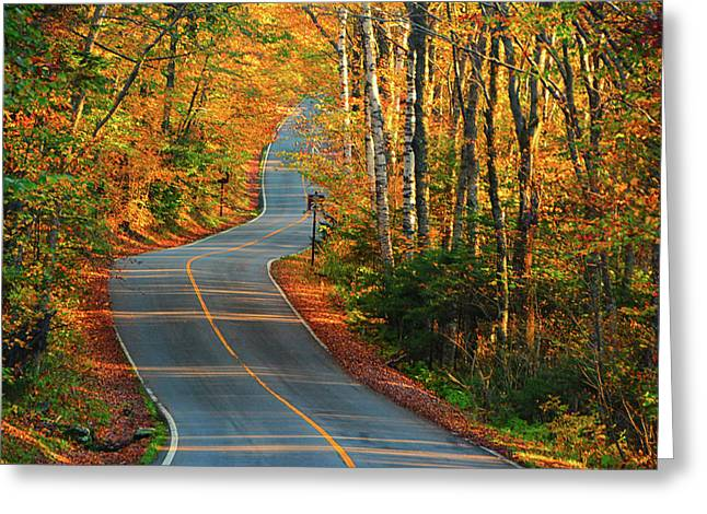 Greeting Card featuring the photograph The Road Up Mount Greylock by Raymond Salani III