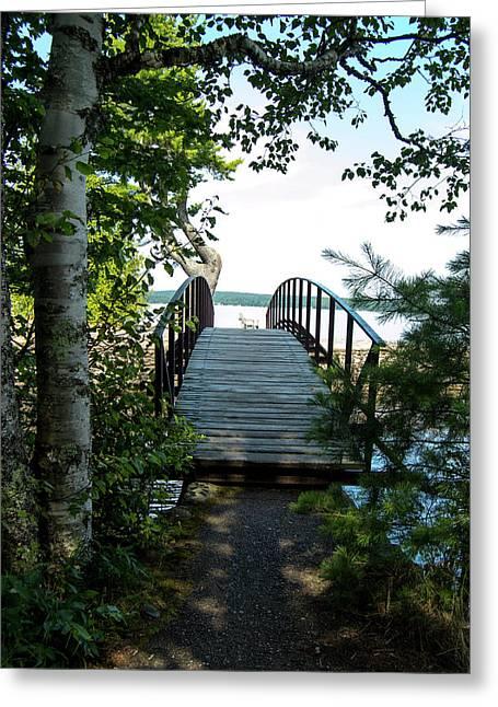 The Rock River Foot Bridge Greeting Card