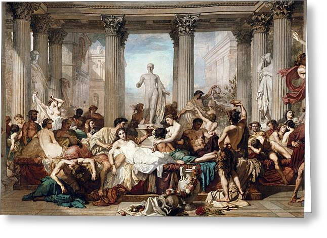 The Romans In Their Decadence Greeting Card