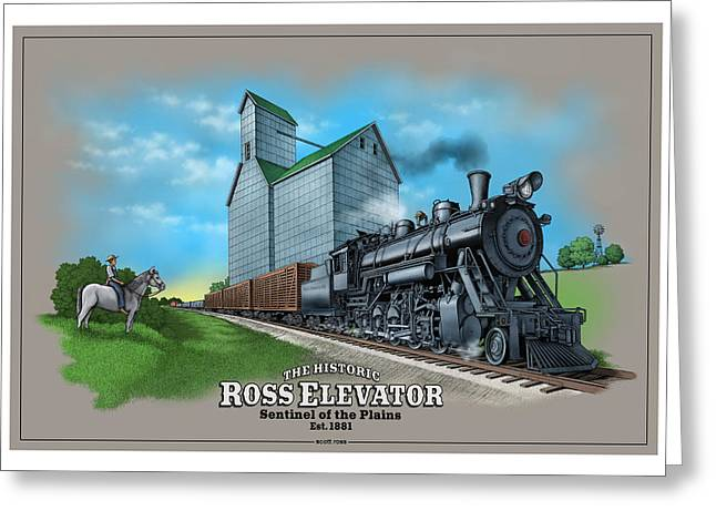 The Ross Elevator Sentinel Of The Plains Greeting Card