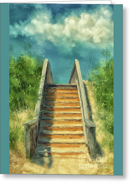 The Sandy Steps Over The Dunes Greeting Card