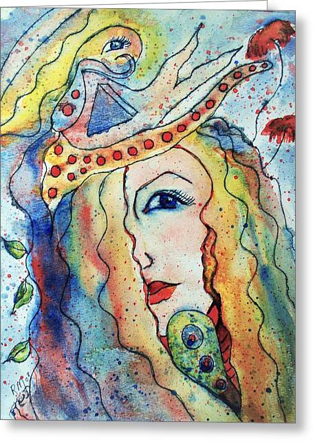 The Sea Becomes Her Greeting Card by Robin Monroe