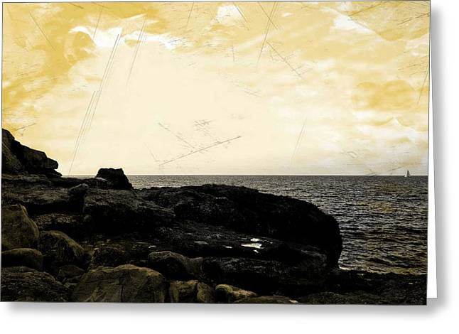 Greeting Card featuring the photograph The Sea   by Lucia Sirna
