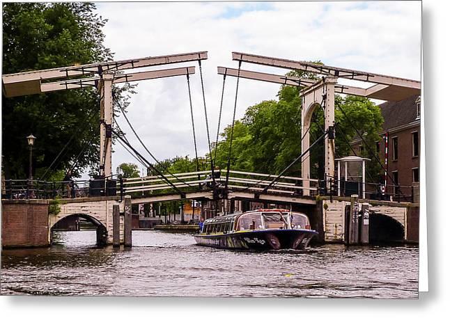 The Skinny Bridge Amsterdam Greeting Card