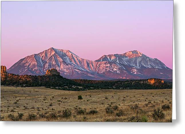 The Spanish Peaks Greeting Card