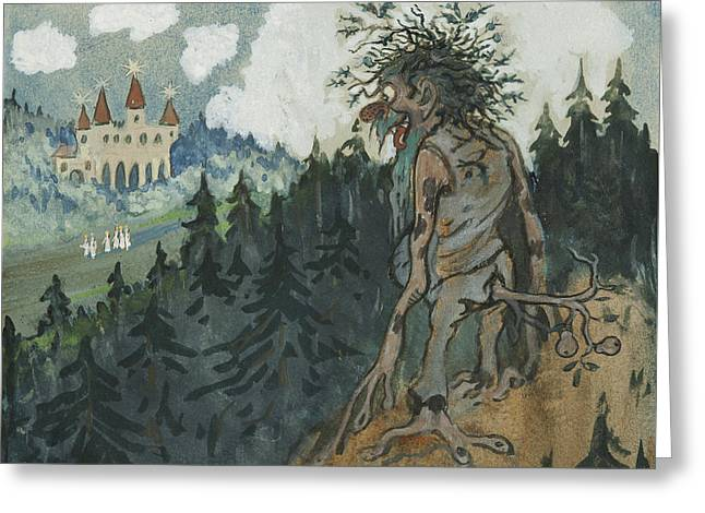 Greeting Card featuring the photograph The Story Of The Six Princesses by Ivar Arosenius