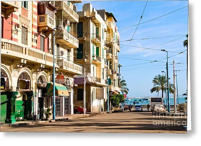 The Street Of Alexandria, Egypt Greeting Card