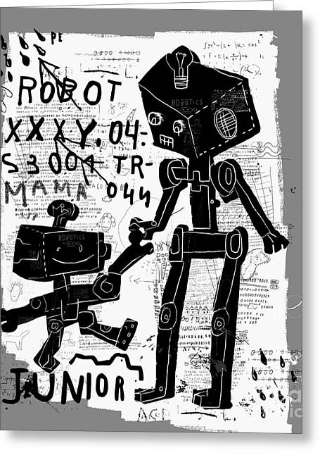 The Symbolic Image Of Robots Who Are Greeting Card