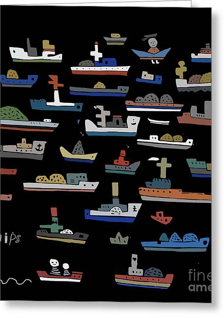 The Symbolic Image Of The Ships On A Greeting Card