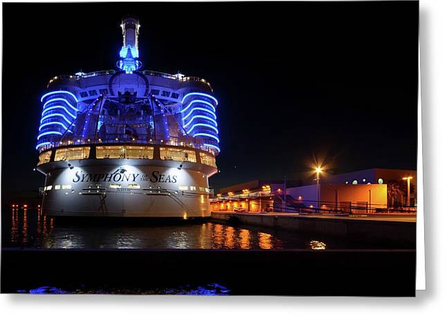 Greeting Card featuring the photograph Symphony Of The Seas At Night by Bradford Martin