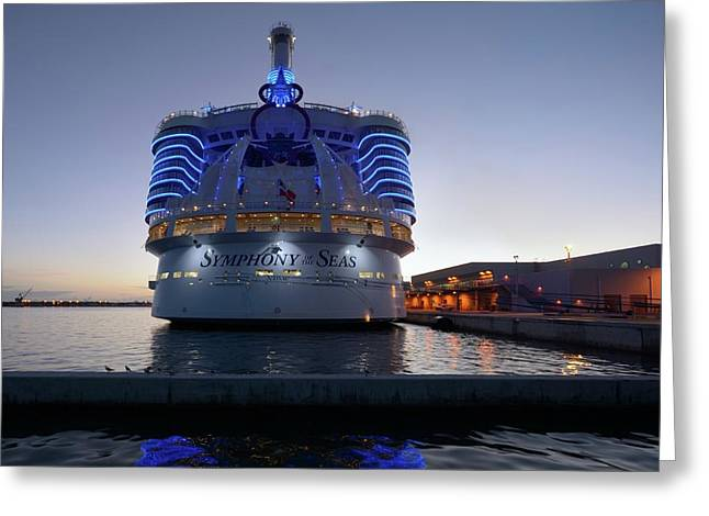 Greeting Card featuring the photograph The Symphony Of The Seas At Twilight by Bradford Martin
