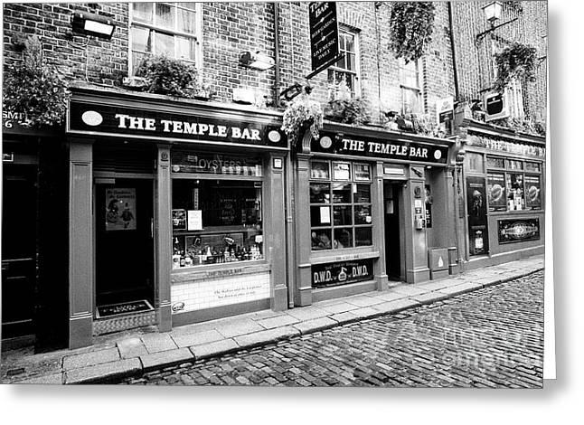the temple bar pub Dublin Republic of Ireland Europe Greeting Card by Joe Fox