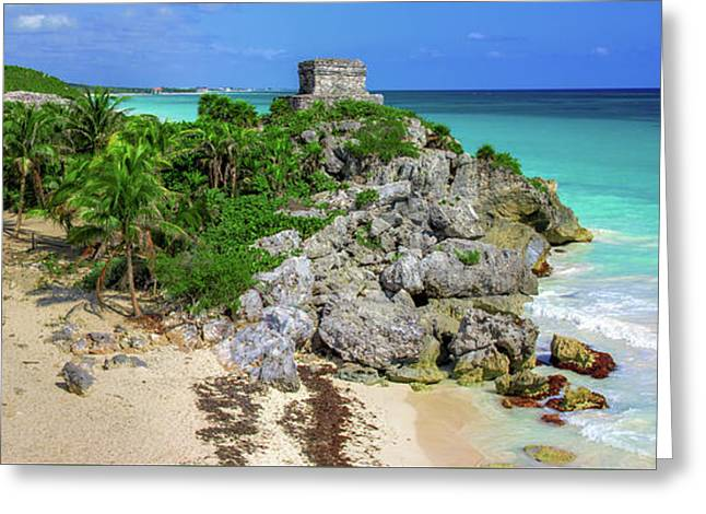 The Temple By The Sea Greeting Card