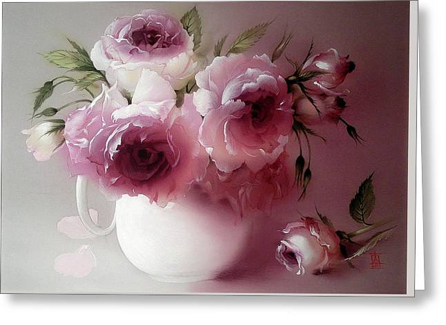 The Tender Fragrance Of Roses Greeting Card