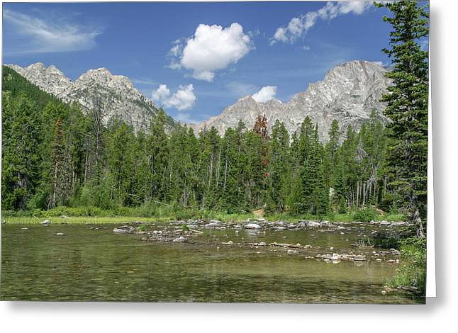 Greeting Card featuring the photograph The Tetons In Summer by Ronnie and Frances Howard